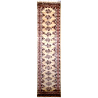 Handmade One-of-a-Kind Bokhara Wool Runner (Pakistan) - 2'5 x 9'8
