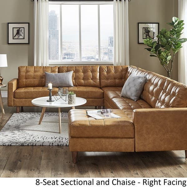 Remarkable Shop Odin Caramel Leather Gel L Shape Sectional With Chaise Caraccident5 Cool Chair Designs And Ideas Caraccident5Info