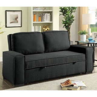 Tanner Contemporary Grey Upholstered Futon Sofa by FOA