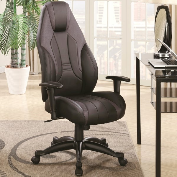 Modern Sleek Design Adjustable Swivel Home Office Chair with Mesh Inlay