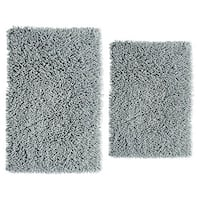 Chenille Shaggy 2-piece Bath Rug Set