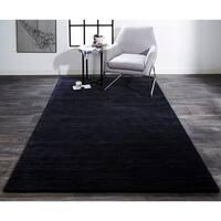 """Grand Bazaar Celano Black Wool Rug - 2'3"""" x 3'9"""""""