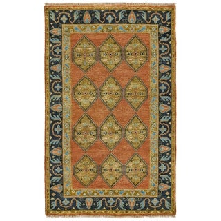 Grand Bazaar Alden Rust/ Charcoal Wool Rug (2' X 3') - 2' x 3'