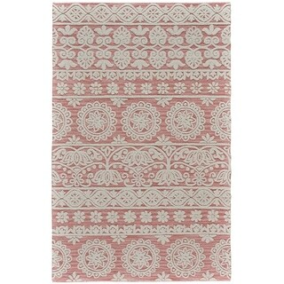 Grand Bazaar Hillsdale Dusty/ Pink Wool Rug - 2' x 3'