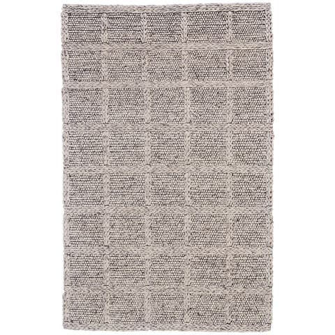 Grand Bazaar Genet Natural/ Gray Wool Rug - 2' x 3'