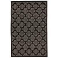 Grand Bazaar Marne Black/ Charcoal Wool Rug - 2'2 x 4'