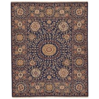 Grand Bazaar Sulli Navy Wool Rug - 2' x 3'