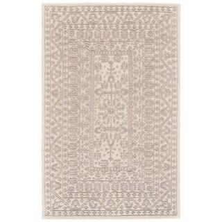 Grand Bazaar Eckels Ivory/ Light Gray Wool Rug - 2' x 3'