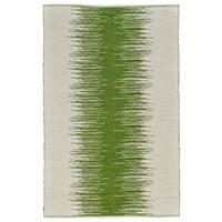 Grand Bazaar Bashia Green Wool Rug - 2' x 3'