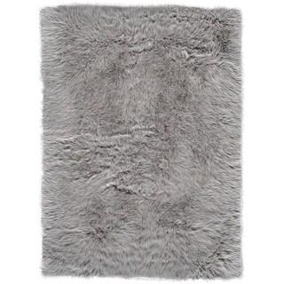 """Grand Bazaar Beringer Gray Wool Rug - 2'3"""" x 4'"""