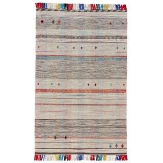 Grand Bazaar Mirella Light Gray Wool Rug - 2' x 3'