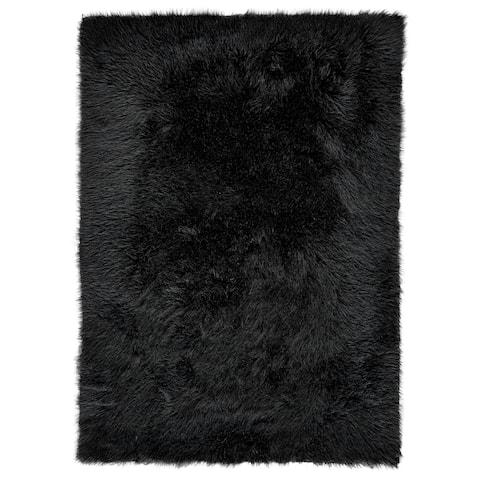 "Grand Bazaar Beringer Black Wool Rug - 2'3"" x 3'6"""