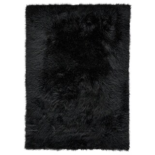 "Grand Bazaar Beringer Black Wool Rug - 2'3"" x 4'"