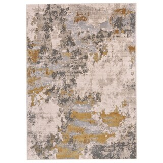 "Grand Bazaar Vanhorn Gold/ Birch Wool Rug - 1'8"" x 2'10"""