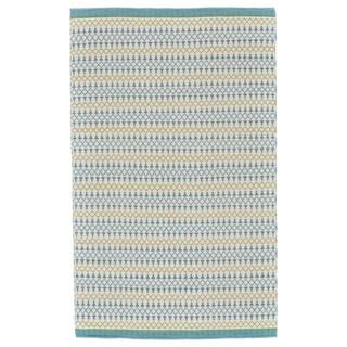 Grand Bazaar Naim Turquoise/ Lime Wool Rug - 2' x 3'