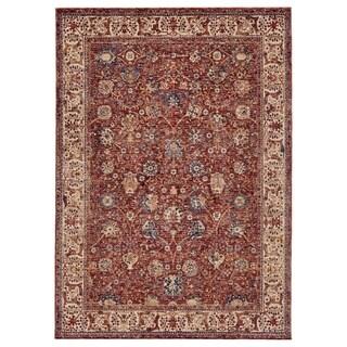 Grand Bazaar Moberly Rust/ Ivory Wool Rug (5' X 8') - 5' x 8'