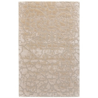Grand Bazaar Malawi Collection Ivory Wool Area Rug - 5' x 8'