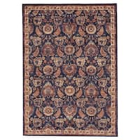 Grand Bazaar Moberly Blue/ Rust Wool Rug (5' X 8') - 5' x 8'
