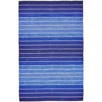 Grand Bazaar Tavana Blue Wool Rug (5' X 8') - 5' x 8'