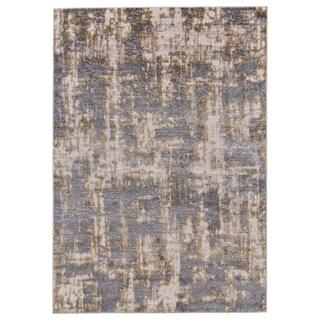 """Grand Bazaar Vanhorn Gold/ Sterling Wool Rug - 1'8"""" x 2'10"""""""