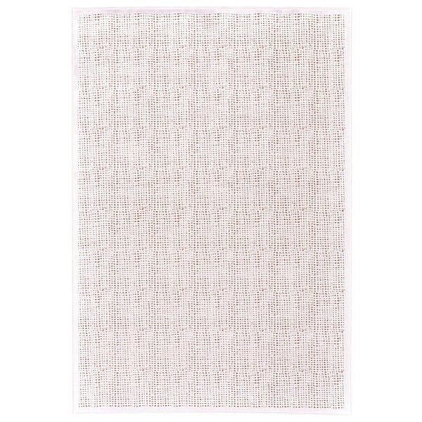 Grand Bazaar Qazi Blush White Wool Rug 5 X27