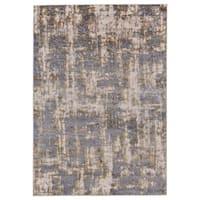 Grand Bazaar Vanhorn Gold/ Sterling Wool Rug - 5' x 8'