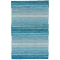 Grand Bazaar Tavana Aqua Wool Rug (5' X 8') - 5' x 8'