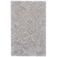 Grand Bazaar Canady Bisque/ Storm Wool Rug - 5' x 8'