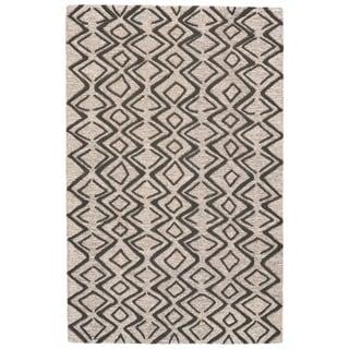 Grand Bazaar Fadden Charcoal/Taupe Wool Rug - 5' x 8'