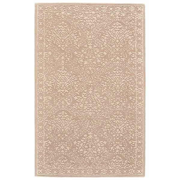 Grand Bazaar Eckels Beige/Ivory Wool Rug - 5' x 8'