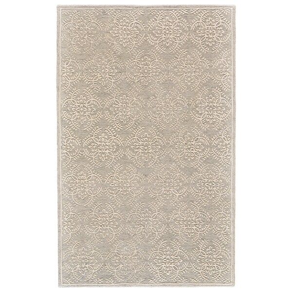 Grand Bazaar Eckels Light Sage/Ivory Cotton and Wool Rug - 5' x 8'