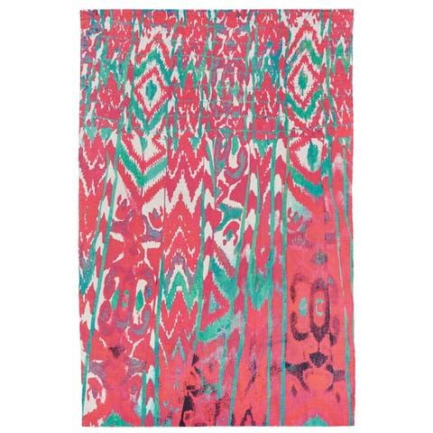"""Grand Bazaar Ashlyn Melon Wool Rug (5'-6 X 8'-6) - 5'6"""" x 8'6"""""""