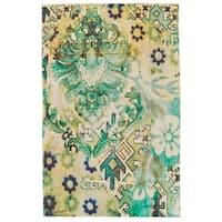 Grand Bazaar Ashlyn Lime Area Rug - 5'6 x 8'6