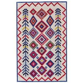 Grand Bazaar Awareh Ivory/Multicolor Wool Area Rug - 5' x 8'
