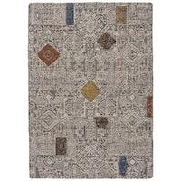 Grand Bazaar Halleck Ivory/ Multi Wool Rug - 2' x 3'