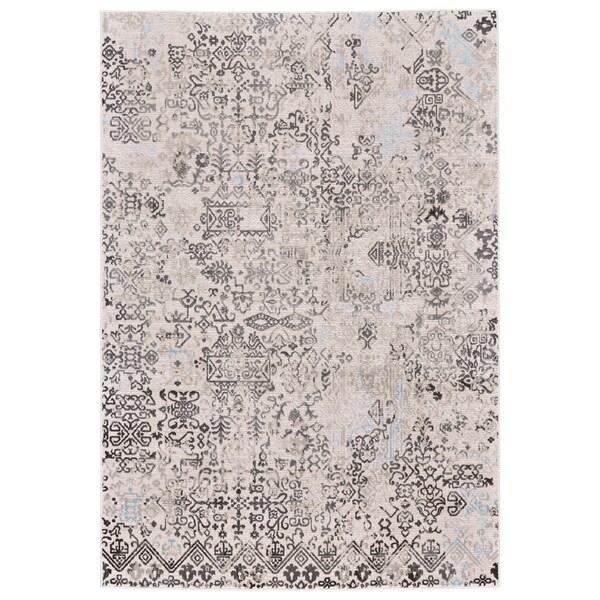 Grand Bazaar Edingburgh White/ Birch Area Rug - 5' x 8'