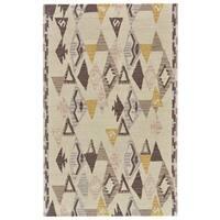 Grand Bazaar Fariza Yellow/Natural Wool Rug - 5' x 8'