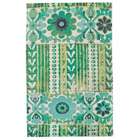 """Grand Bazaar Ashlyn Emerald Wool Rug (5'-6 X 8'-6) - 5'6"""" x 8'6"""""""
