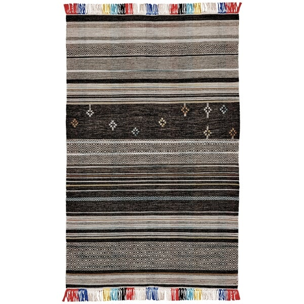 Grand Bazaar Mirella Gray/ Multi Wool Rug (5' X 8') - 5' x 8'
