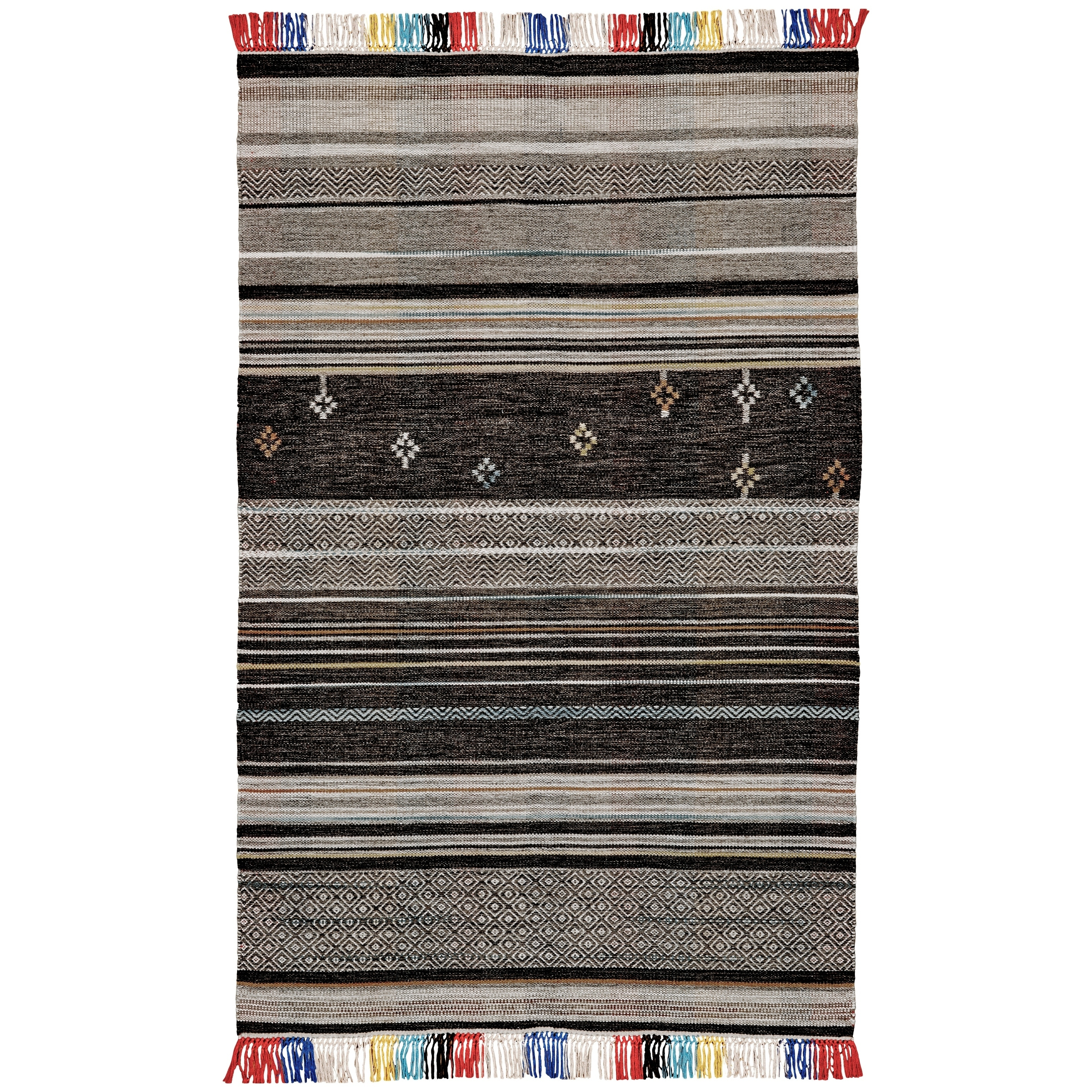 Grand Bazaar Mirella Gray/ Multi Wool Rug (5 X 8) - 5 x 8 (Grey/Multi - 5 x 8)