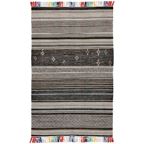 Grand Bazaar Mirella Gray/ Multi Wool Rug (5' X 8') - 5' x 8'