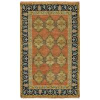 Grand Bazaar Alden Rust/Charcoal Wool Rug (9'6 x 13'6)
