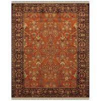 Grand Bazaar Bower Cinnamon/Plum Wool Rug - 9'6 x 13'6