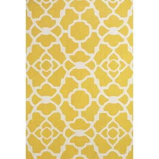 "Grand Bazaar Apricity Yellow/ White Wool Rug - 7'6"" x 9'6"""