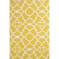 "Grand Bazaar Apricity Yellow/ White Wool Rug - 7'6"" x 9'6"""