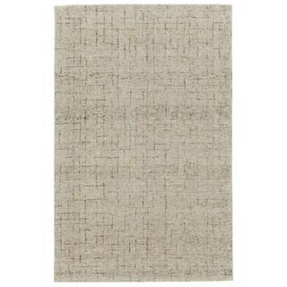 "Grand Bazaar Japel Oatmeal Wool Rug - 9'6"" x 13'6"""