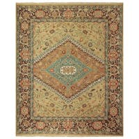 Grand Bazaar Albemarle Gold/ Brown Wool Rug - 8'6 x 11'6