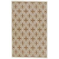 Grand Bazaar Marne Tan/ Cotton Wool Rug (7'-6 X 10'-6) - 7'6 x 10'6