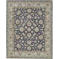 Grand Bazaar Botticino Charcoal Wool Rug (9'-6 X 13'-6) - 9'6 x 13'6