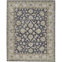 Grand Bazaar Botticino Charcoal Hand-tufted Wool Rug - 9'6 x 13'6